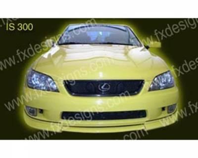 Spoilers - Custom Wing - FX Designs - Lexus IS FX Design Front Chin Spoiler - FX-6EBCH