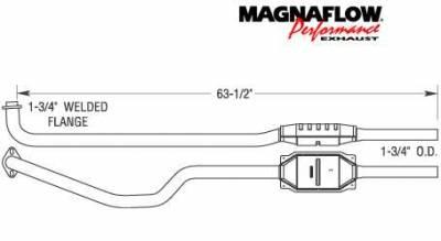 Exhaust - Catalytic Converter - MagnaFlow - MagnaFlow Direct Fit Catalytic Converter - 23428