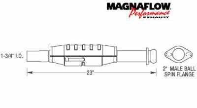Exhaust - Catalytic Converter - MagnaFlow - MagnaFlow Direct Fit Catalytic Converter - 23436