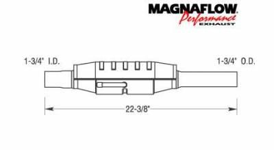 Exhaust - Catalytic Converter - MagnaFlow - MagnaFlow Direct Fit Catalytic Converter - 23442