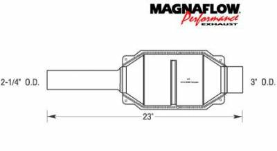 Exhaust - Catalytic Converter - MagnaFlow - MagnaFlow Direct Fit Catalytic Converter - 23458
