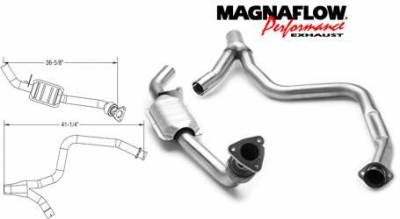 Exhaust - Catalytic Converter - MagnaFlow - MagnaFlow Direct Fit Catalytic Converter - 23476