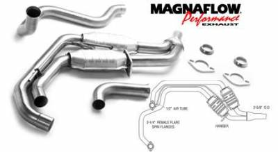 Exhaust - Catalytic Converter - MagnaFlow - MagnaFlow Direct Fit Catalytic Converter with Dual Converter with Y-Pipe Assembly - 23479