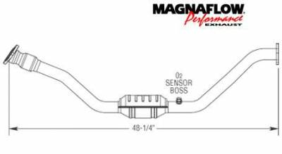 Exhaust - Catalytic Converter - MagnaFlow - MagnaFlow Direct Fit Catalytic Converter - 23485
