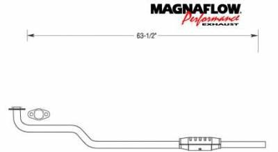 Exhaust - Catalytic Converter - MagnaFlow - MagnaFlow Direct Fit Catalytic Converter - 23492