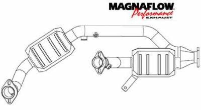 Exhaust - Catalytic Converter - MagnaFlow - MagnaFlow Direct Fit Y-Pipe Catalytic Converter - 23533