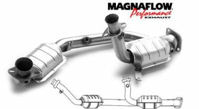 Exhaust - Catalytic Converter - MagnaFlow - MagnaFlow Direct Fit Y-Pipe Catalytic Converter - 23534