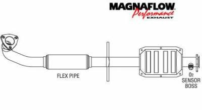 Exhaust - Catalytic Converter - MagnaFlow - MagnaFlow Direct Fit Catalytic Converter - 23535