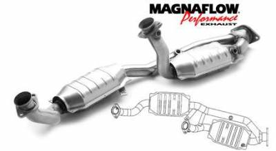 Exhaust - Catalytic Converter - MagnaFlow - MagnaFlow Direct Fit Y-Pipe Catalytic Converter - 23543