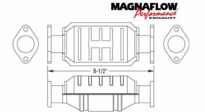 Exhaust - Catalytic Converter - MagnaFlow - MagnaFlow Direct Fit Catalytic Converter - 23656
