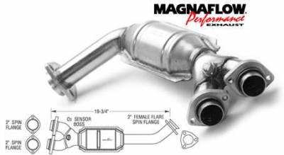 Exhaust - Catalytic Converter - MagnaFlow - MagnaFlow Direct Fit Front Catalytic Converter - 23663