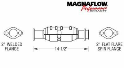 Exhaust - Catalytic Converter - MagnaFlow - MagnaFlow Direct Fit Catalytic Converter - 23679