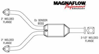 Exhaust - Catalytic Converter - MagnaFlow - MagnaFlow Direct Fit Catalytic Converter - 23794