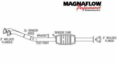 Exhaust - Catalytic Converter - MagnaFlow - MagnaFlow Direct Fit Catalytic Converter - 23796