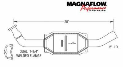Exhaust - Catalytic Converter - MagnaFlow - MagnaFlow Direct Fit Catalytic Converter - 23825