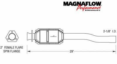 Exhaust - Catalytic Converter - MagnaFlow - MagnaFlow Direct Fit Rear Catalytic Converter - 23826