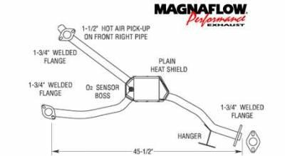 Exhaust - Catalytic Converter - MagnaFlow - MagnaFlow Direct Fit Front Catalytic Converter - 23868