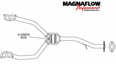 Exhaust - Catalytic Converter - MagnaFlow - MagnaFlow Direct Fit Front Catalytic Converter - 23875
