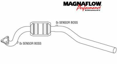 Exhaust - Catalytic Converter - MagnaFlow - MagnaFlow Direct Fit Catalytic Converter - 43415