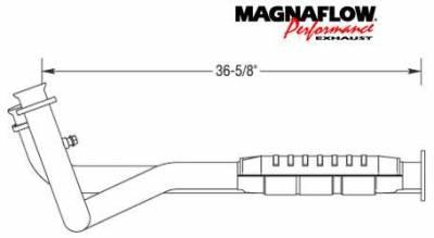Exhaust - Catalytic Converter - MagnaFlow - MagnaFlow Direct Fit Front Catalytic Converter - 43470