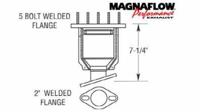 Exhaust - Catalytic Converter - MagnaFlow - MagnaFlow Direct Fit Catalytic Converter - 50240