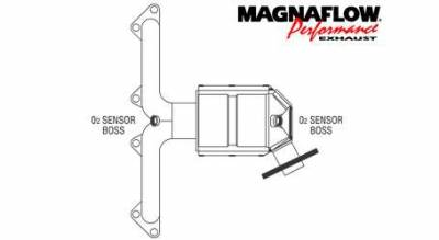 Exhaust - Catalytic Converter - MagnaFlow - MagnaFlow Direct Fit Catalytic Converter - 50602
