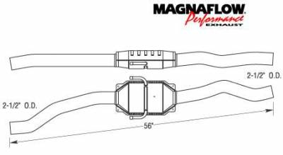 Exhaust - Catalytic Converter - MagnaFlow - MagnaFlow Direct Fit Catalytic Converter - 93243