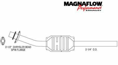 Exhaust - Catalytic Converter - MagnaFlow - MagnaFlow Direct Fit Catalytic Converter - 93275