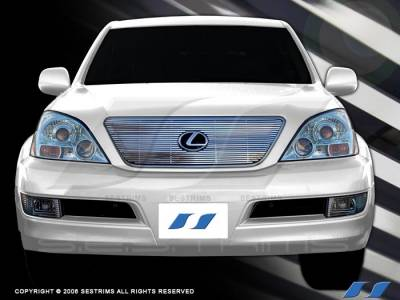 Grilles - Custom Fit Grilles - SES Trim - Lexus GX SES Trim Billet Grille - 304 Chrome Plated Stainless Steel - CG111