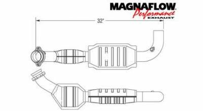 Exhaust - Catalytic Converter - MagnaFlow - MagnaFlow Direct Fit Catalytic Converter - 93321