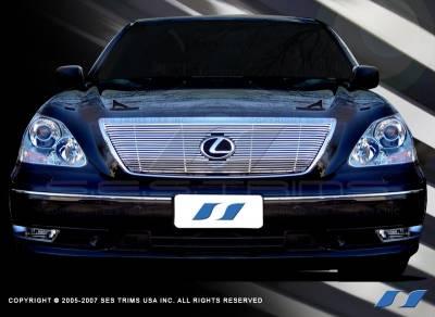 Grilles - Custom Fit Grilles - SES Trim - Lexus LS SES Trim Billet Grille - 304 Chrome Plated Stainless Steel - CG115