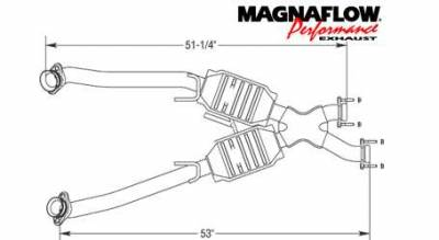 Exhaust - Catalytic Converter - MagnaFlow - MagnaFlow Direct Fit Performance Catalytic Converter - 93332