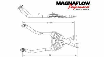 Exhaust - Catalytic Converter - MagnaFlow - MagnaFlow Direct Fit Performance Catalytic Converter - 93333