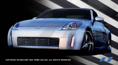 Grilles - Custom Fit Grilles - SES Trim - Nissan 350Z SES Trim Billet Grille - 304 Chrome Plated Stainless Steel - CG120