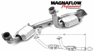 Exhaust - Catalytic Converter - MagnaFlow - MagnaFlow Direct Fit Y-Pipe Catalytic Converter - 93342