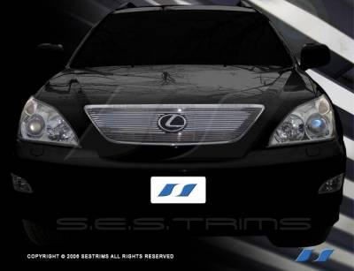 Grilles - Custom Fit Grilles - SES Trim - Lexus RX SES Trim Billet Grille - 304 Chrome Plated Stainless Steel - CG122
