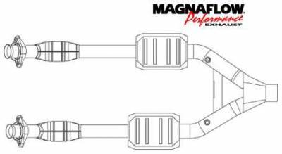 Exhaust - Catalytic Converter - MagnaFlow - MagnaFlow Direct Fit Y-Pipe Catalytic Converter - 93344