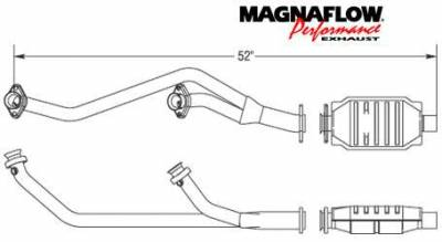 Exhaust - Catalytic Converter - MagnaFlow - MagnaFlow Direct Fit Main Catalytic Converter with Pre-Converter - 93350