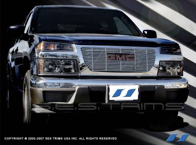 Grilles - Custom Fit Grilles - SES Trim - GMC Canyon SES Trim Billet Grille - 304 Chrome Plated Stainless Steel - CG129