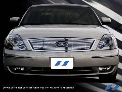 Grilles - Custom Fit Grilles - SES Trim - Ford 500 SES Trim Billet Grille - 304 Chrome Plated Stainless Steel - CG131