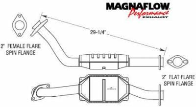 Exhaust - Catalytic Converter - MagnaFlow - MagnaFlow Direct Fit 29.25 Inch Catalytic Converter - 93385