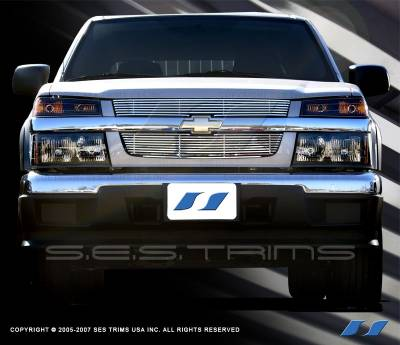 Grilles - Custom Fit Grilles - SES Trim - Chevrolet Colorado SES Trim Billet Grille - 304 Chrome Plated Stainless Steel - CG136