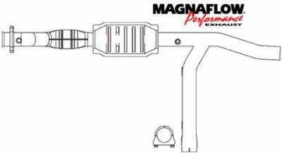 Exhaust - Catalytic Converter - MagnaFlow - MagnaFlow Direct Fit Catalytic Converter - 93391