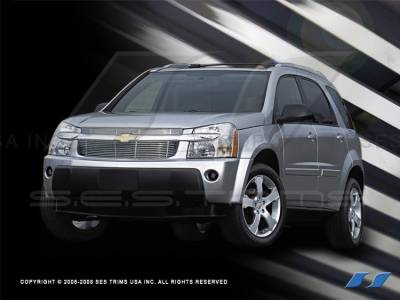 Grilles - Custom Fit Grilles - SES Trim - Chevrolet Equinox SES Trim Billet Grille - 304 Chrome Plated Stainless Steel - CG137
