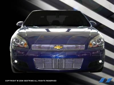 Grilles - Custom Fit Grilles - SES Trim - Chevrolet Impala SES Trim Billet Grille - 304 Chrome Plated Stainless Steel - Top & Bottom - CG143