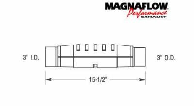 Exhaust - Catalytic Converter - MagnaFlow - MagnaFlow Direct Fit Catalytic Converter - 93477