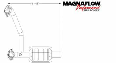 Exhaust - Catalytic Converter - MagnaFlow - MagnaFlow Direct Fit Catalytic Converter - 93482