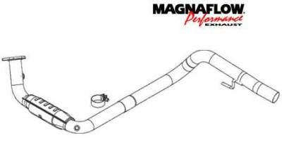 Exhaust - Catalytic Converter - MagnaFlow - MagnaFlow Direct Fit Catalytic Converter - 93601
