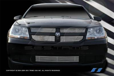 Grilles - Custom Fit Grilles - SES Trim - Dodge Avenger SES Trim Billet Grille - 304 Chrome Plated Stainless Steel - CG167