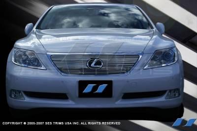 Grilles - Custom Fit Grilles - SES Trim - Lexus LS SES Trim Billet Grille - 304 Chrome Plated Stainless Steel - CG169